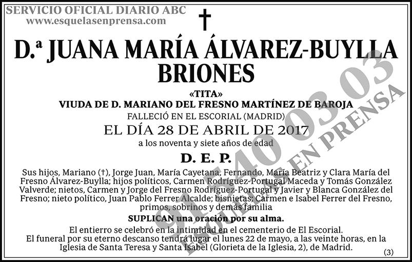 Juana María Álvarez-Buylla Briones